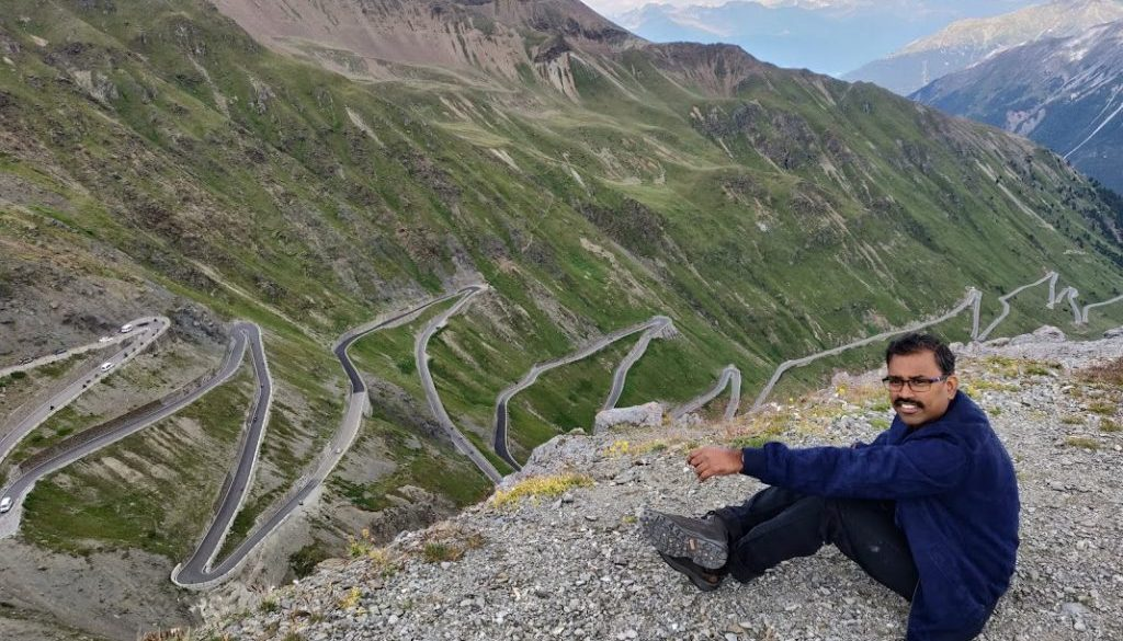 Stelvio Pass view from top