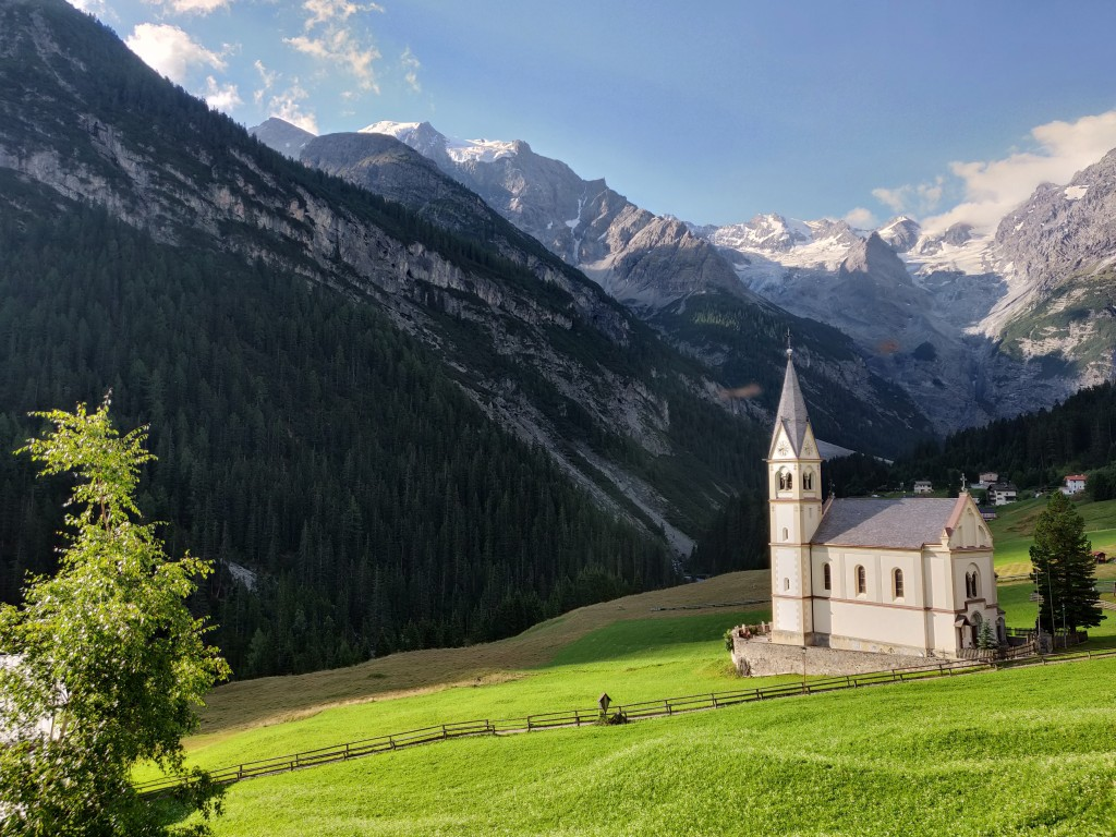 Beautiful Church in Trafoi, Stelvio Pass